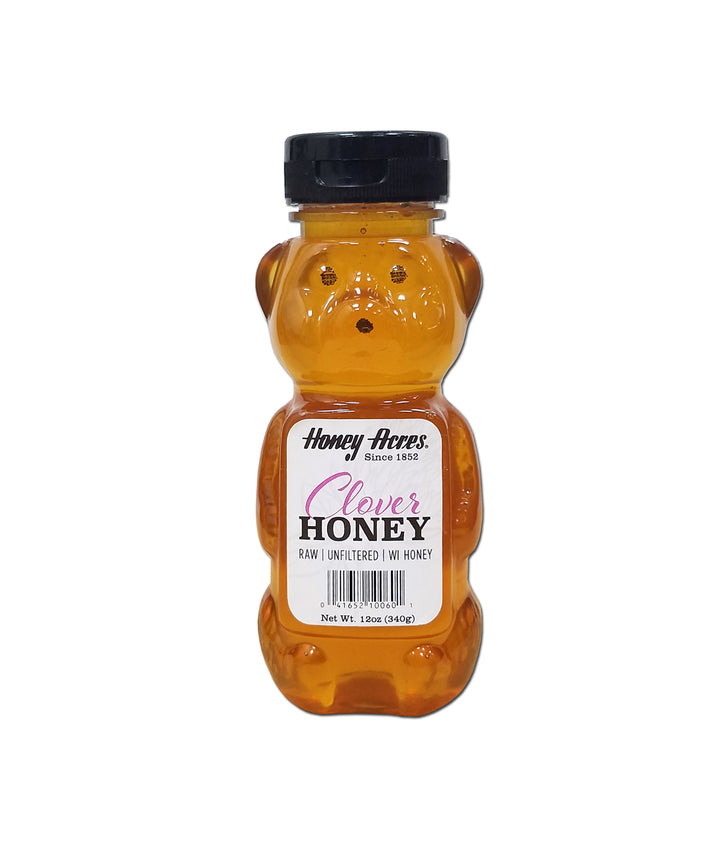 Clover Honey - 12oz BEAR Squeeze Bottle