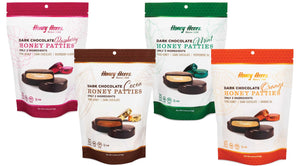 Dark Chocolate Honey Patties - Variety Pack - Bags