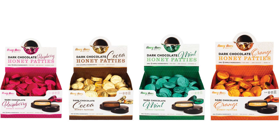 Dark Chocolate Honey Patties - 2lb Box Variety Pack