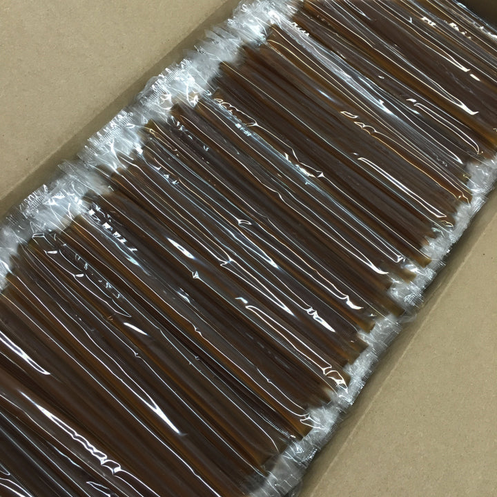 2000 Count - Chocolate Mint Honey Straws - CLEAR Wrapper