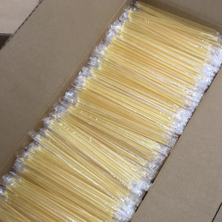 500 count- Clover Honey Straws - CLEAR Wrapper