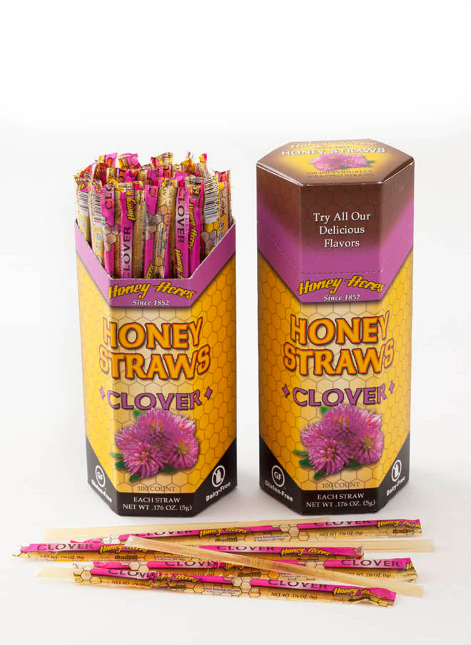 Honey Straws - Clover - 100ct Box