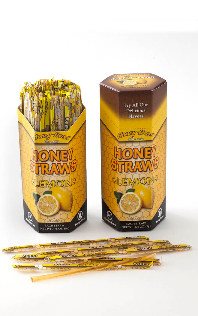 Honey Straws - Lemon - 100ct Box