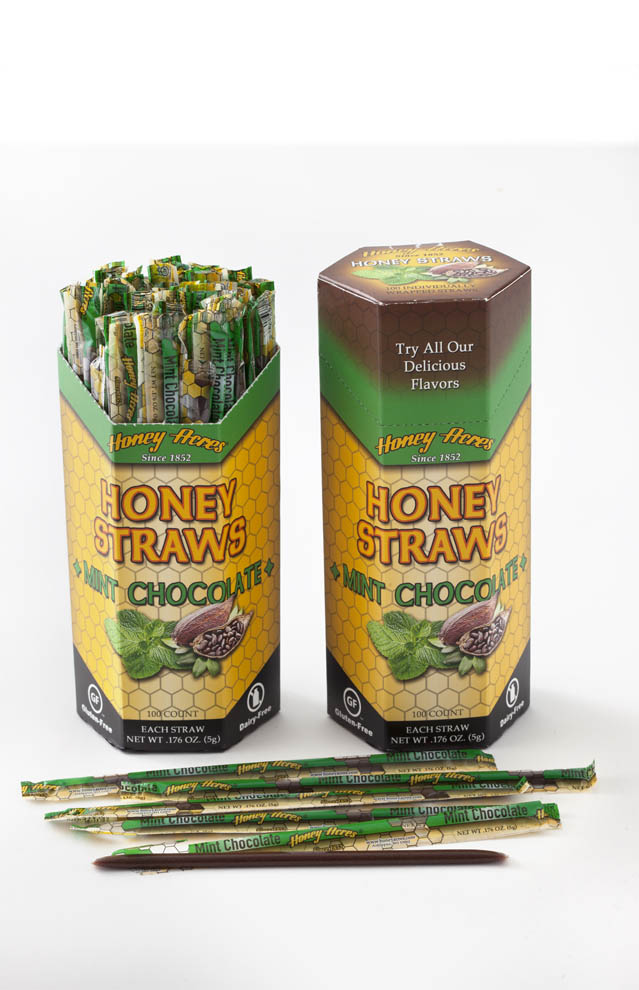 Honey Straws - Chocolate Mint - 100ct Box