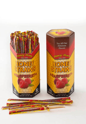 Honey Straws - Raspberry - 100ct Box