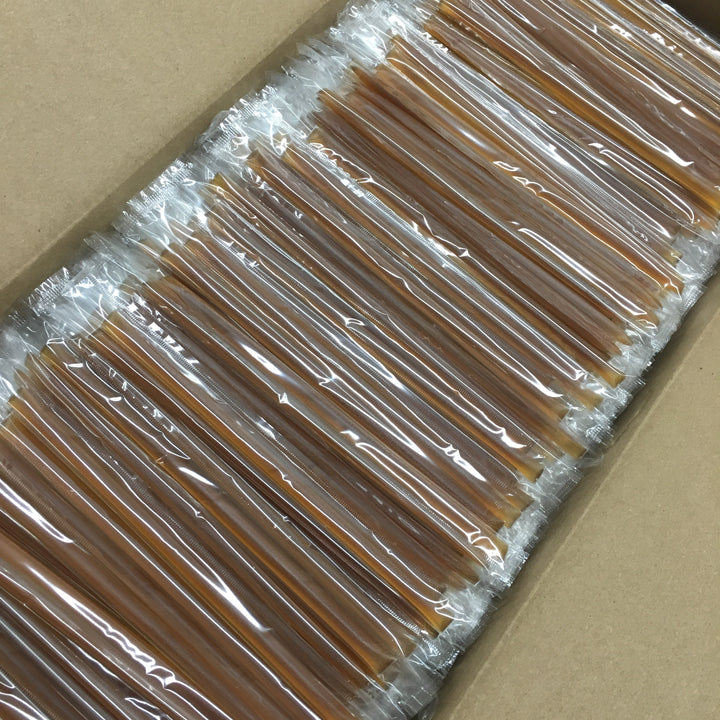 2000 Count - Wildflower Honey Straws - CLEAR Wrapper