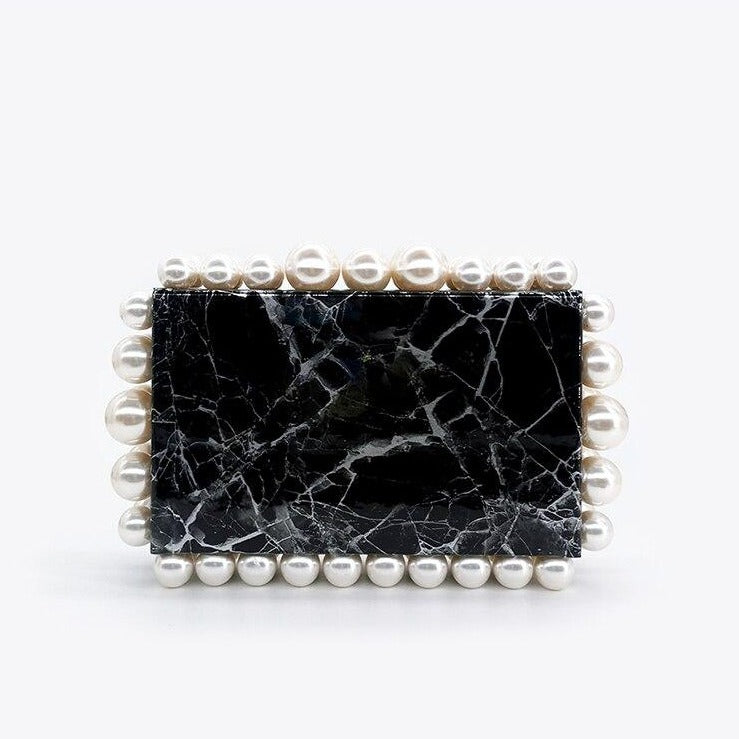 Marble Bubble Rim Clutch Bag acrylic bag God's Gift London
