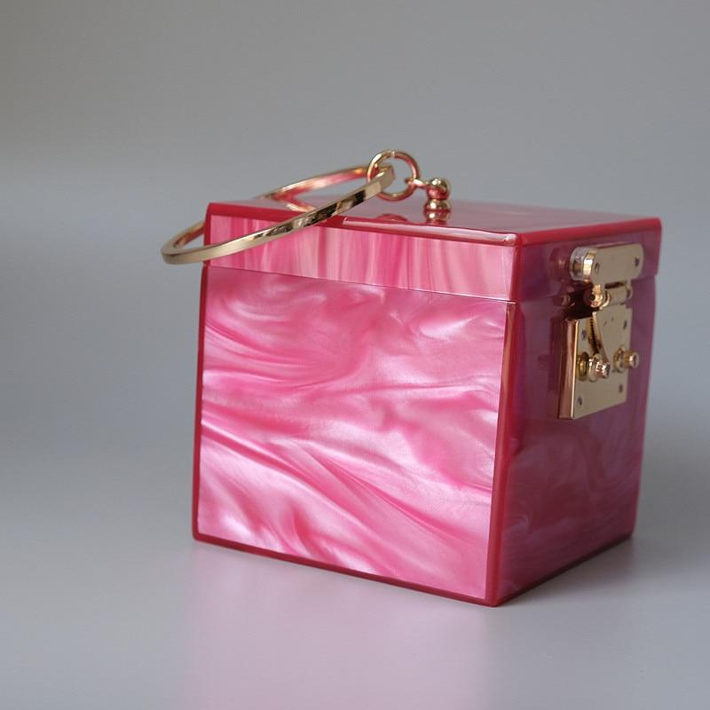 Ring Handle Box Bag acrylic bag God's Gift London