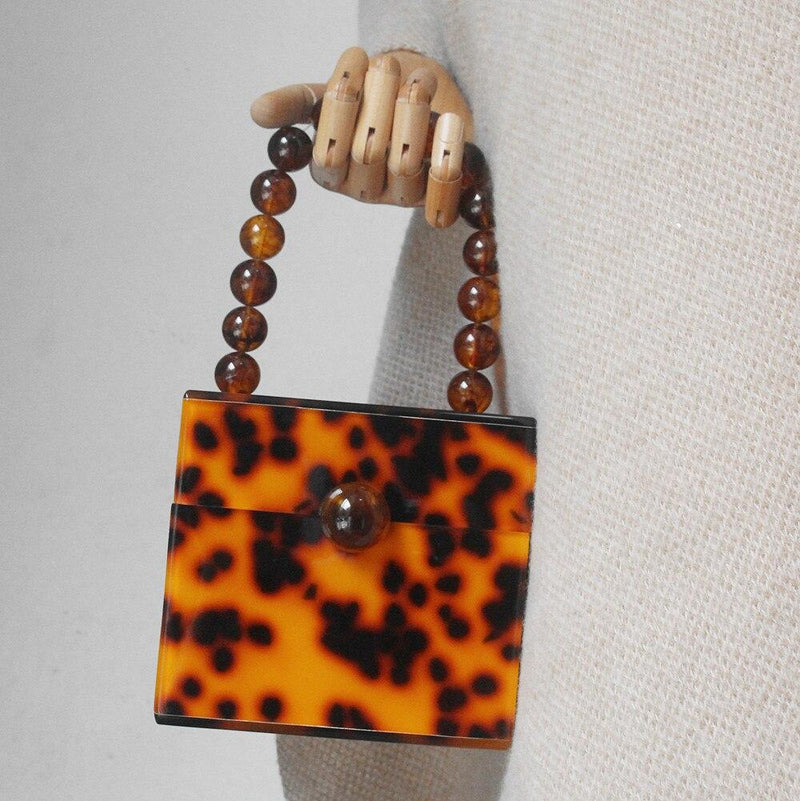 Tortoiseshell Acrylic Box Bag acrylic bag God's Gift London
