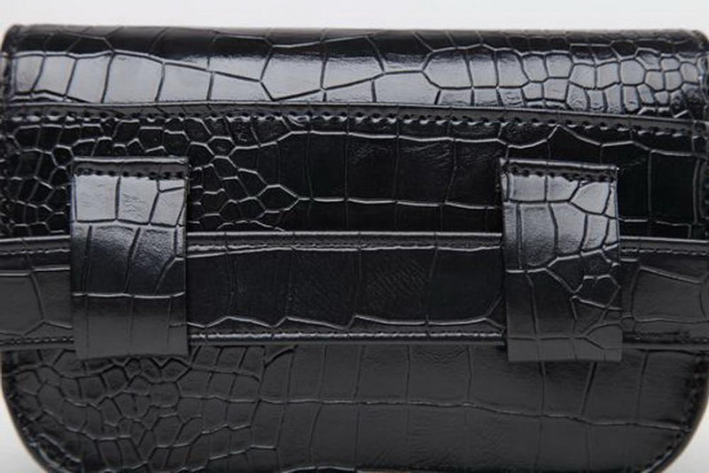 PU Croc Pattern Belt Bag