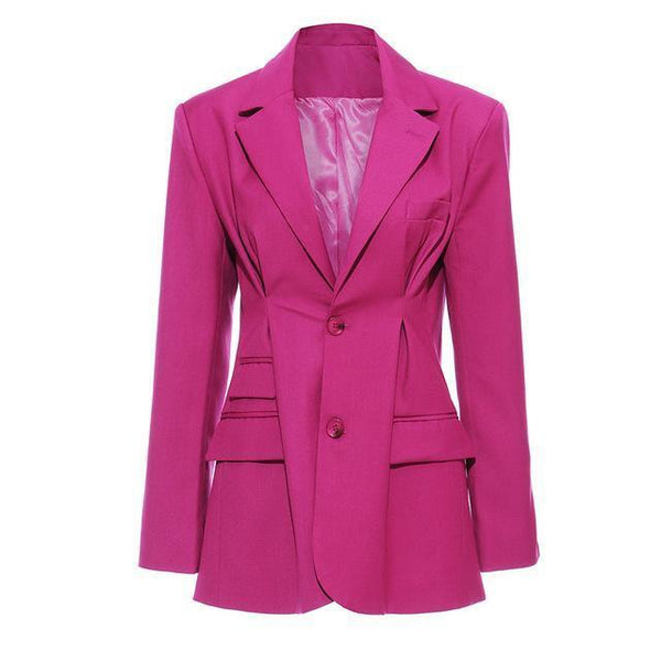 Pink Single Breasted Blazer