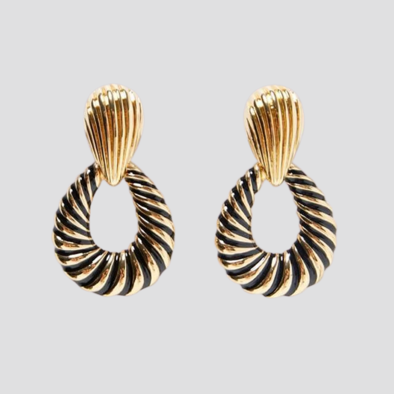 Black/Gold Earrings earring God's Gift London