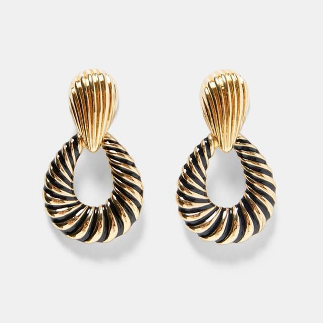 Black/Gold Earrings