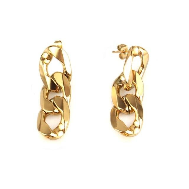 Chain Link Drop Earrings earring God's Gift London Gold