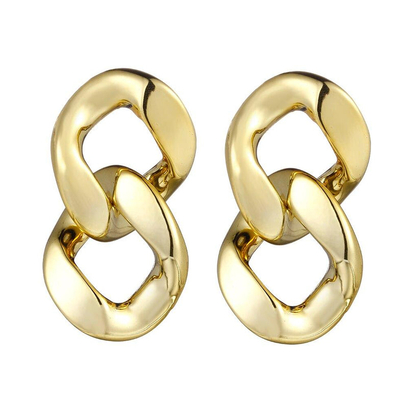 Double Chain Link Earrings earring God's Gift London