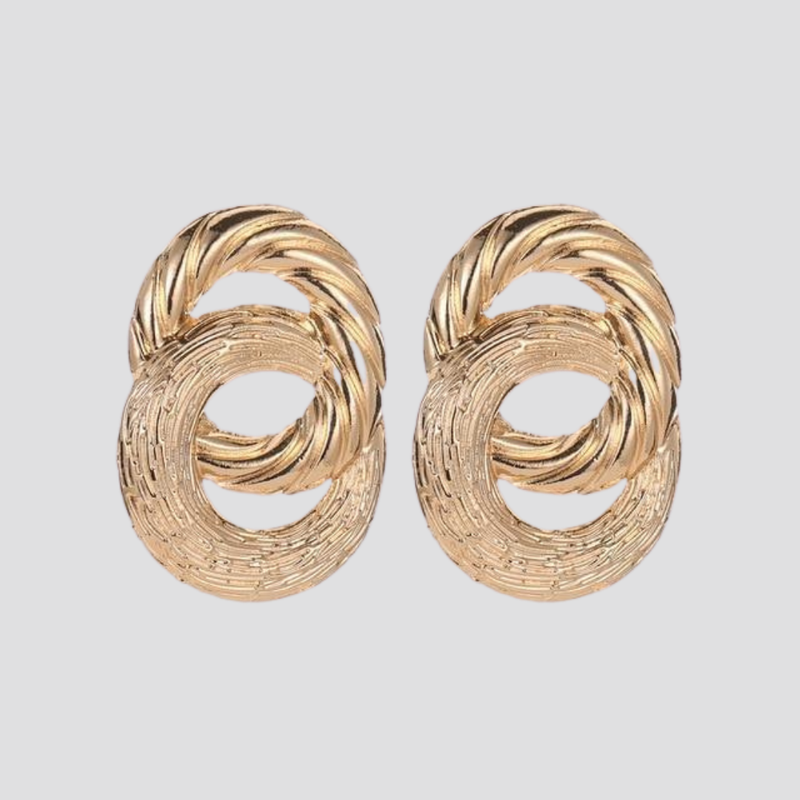Double Twist Earrings earring God's Gift London Gold