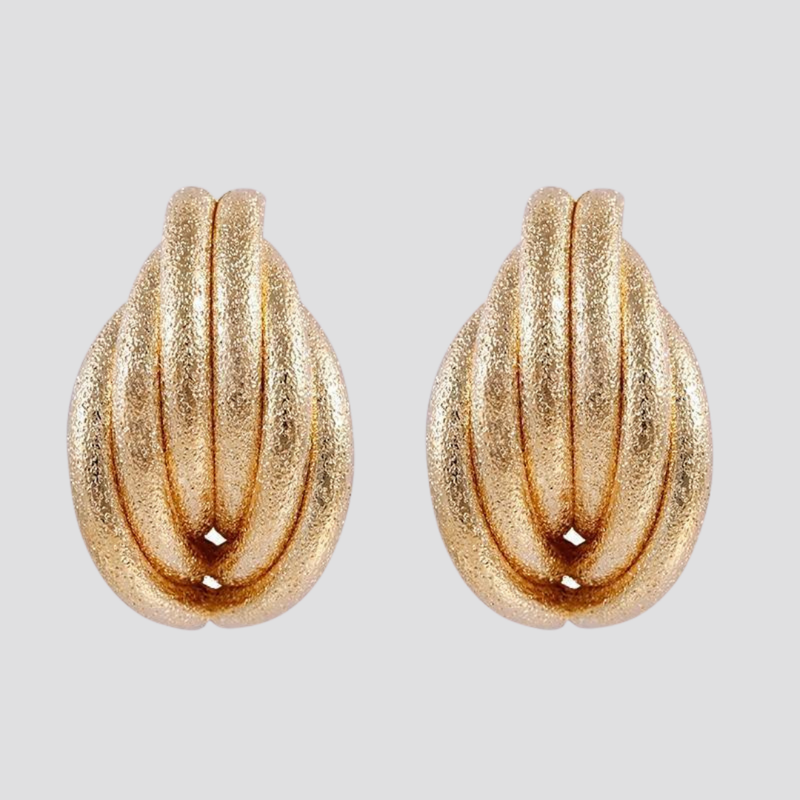 Frosty Shell Earrings earring God's Gift London Gold