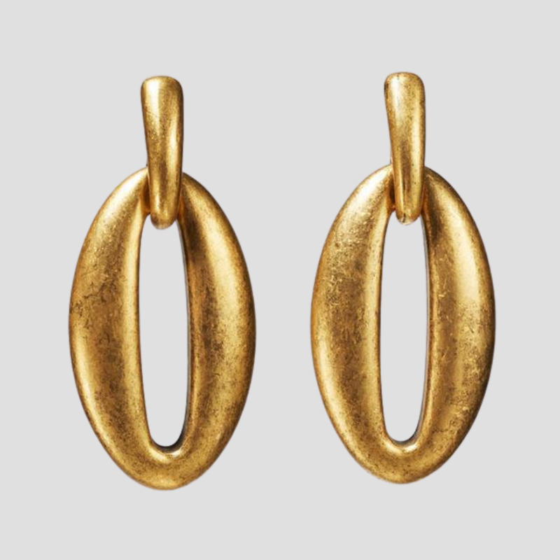 Gold O Earrings earring God's Gift London