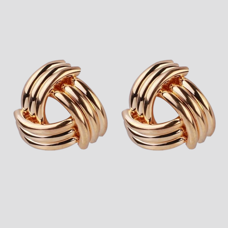 Knot Twisted Stud Earrings - Multiple Styles earring God's Gift London