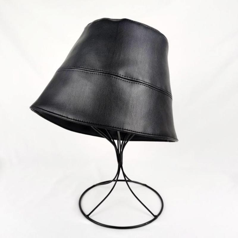 Faux Leather Bucket Hat God's Gift London