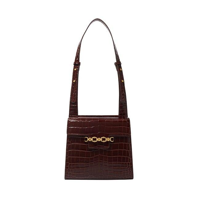 Croc Top Handle Square Bag Handbag God's Gift London as picture show