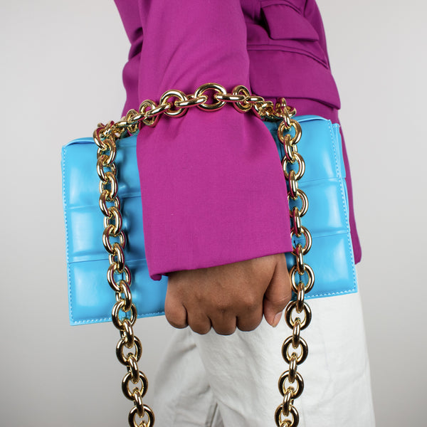 Genuine Leather Chain Quilt Bag