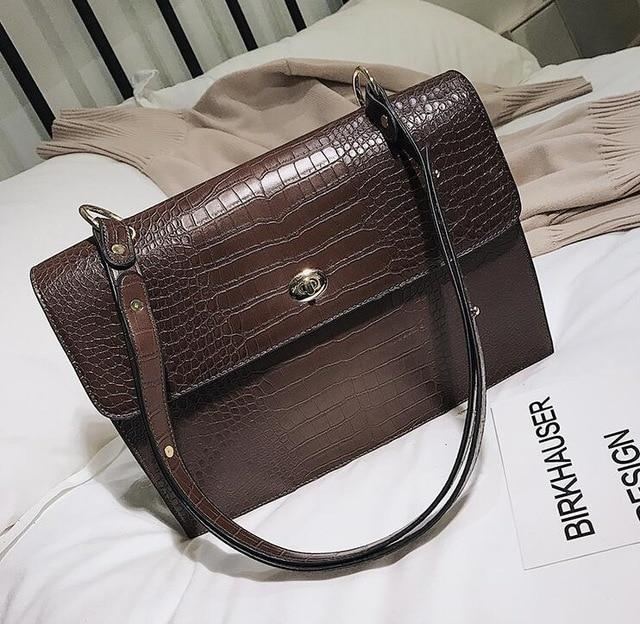 Large Handbag Croc Pattern