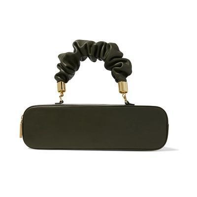 Ruched Pill Handle Bag