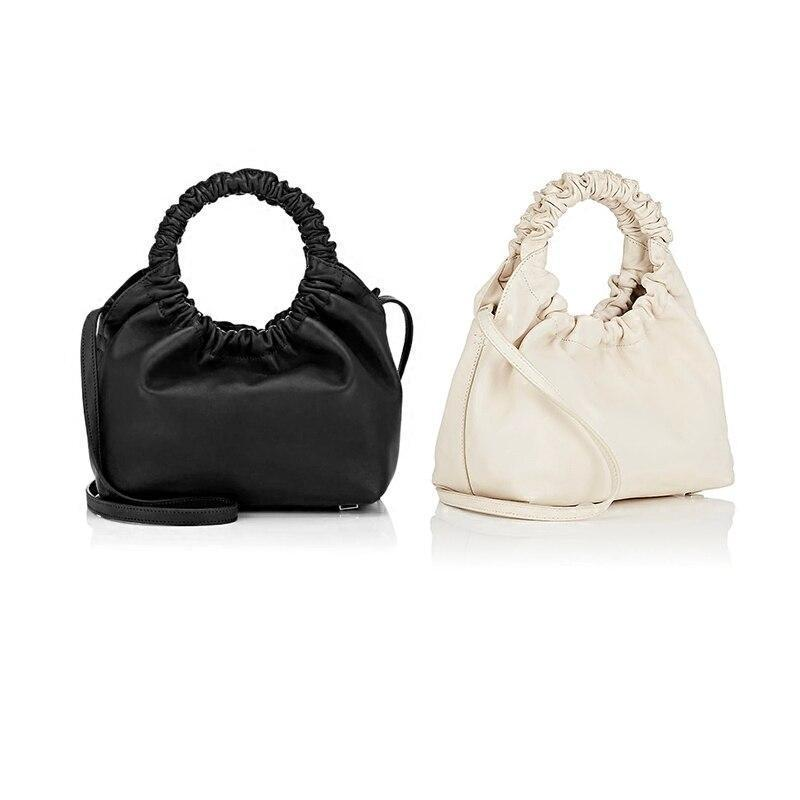 Ruched Ring Handle Bag