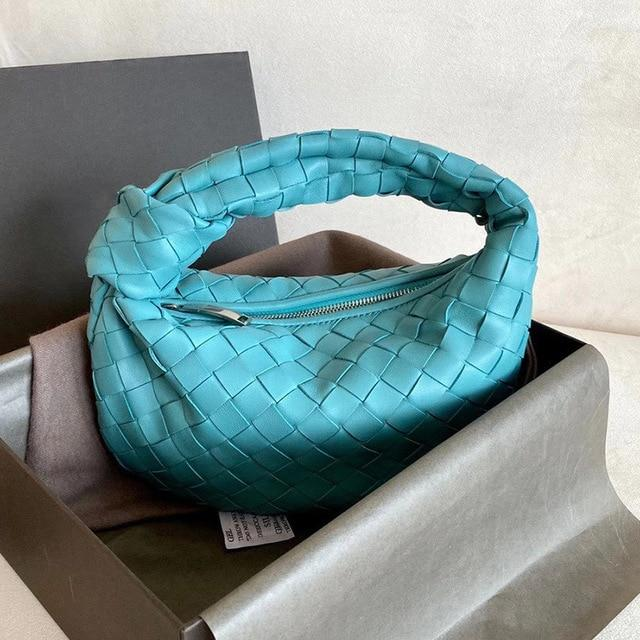 Woven Knot Large Handbag Handbag God's Gift London Lake Blue