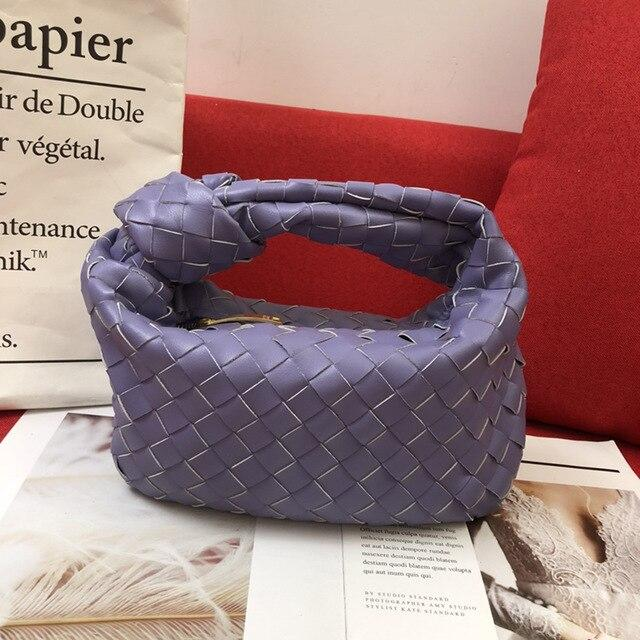 Woven Knot Large Handbag Handbag God's Gift London Purple