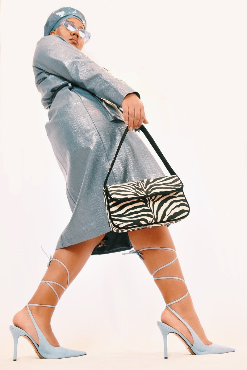 Zebra Canvas Shoulder Bag Handbag God's Gift London