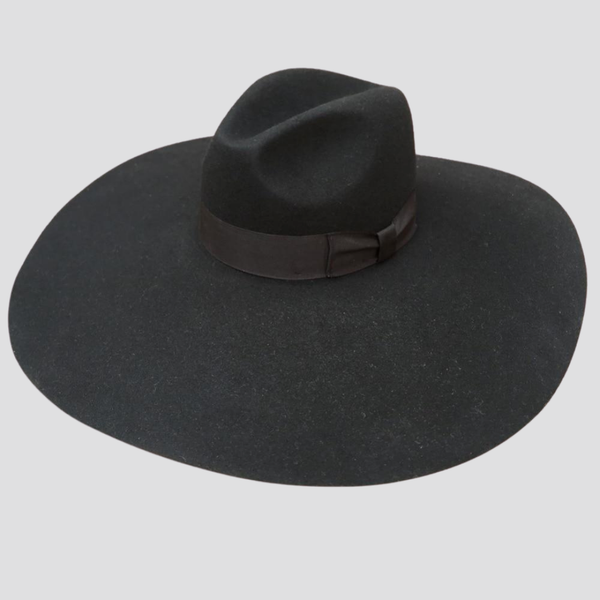 Black Soft Brim Fedora Hat Hat God's Gift London