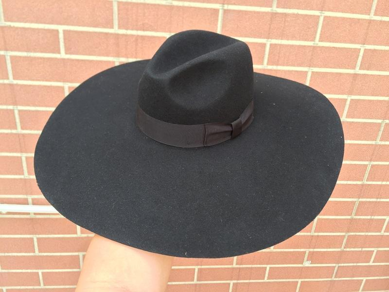 Black Soft Brim Fedora Hat