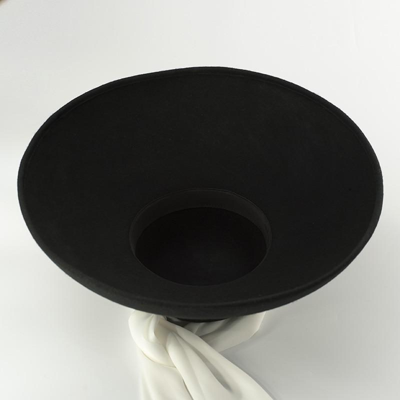 Dish Hat with White Sash