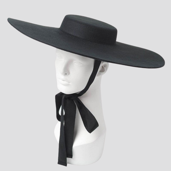 Flat Wide Brim Hat Hat God's Gift London