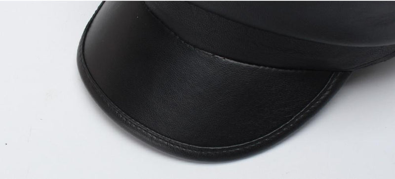 PU Military Hat - Black Hat God's Gift London