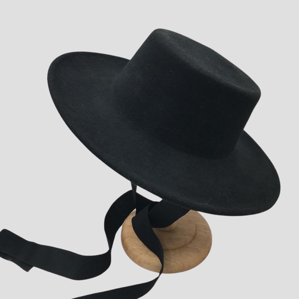 Wide Brim Hat - Yellow Black Hat God's Gift London