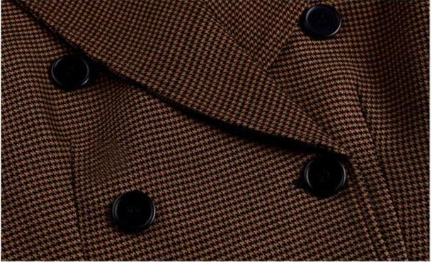 Brown Plaid Wool Jacket Jacket God's Gift London