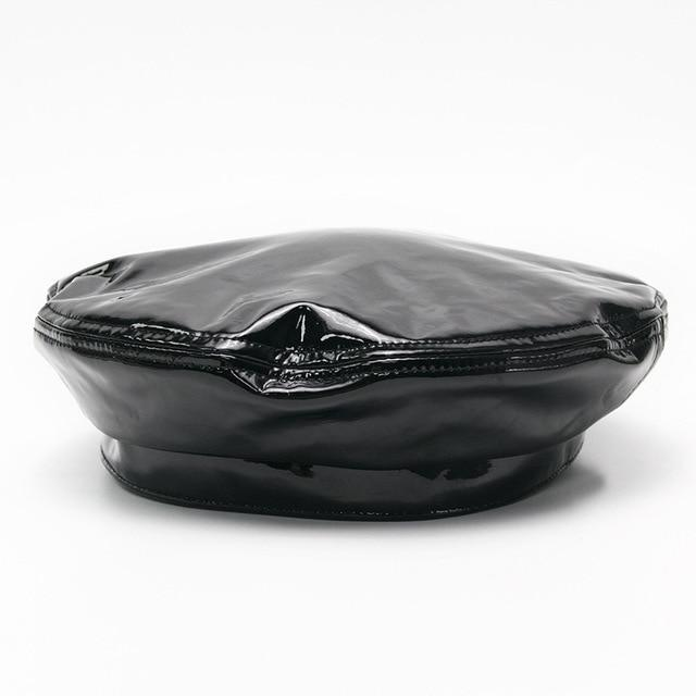 Patent Leather Beret - Black God's Gift London