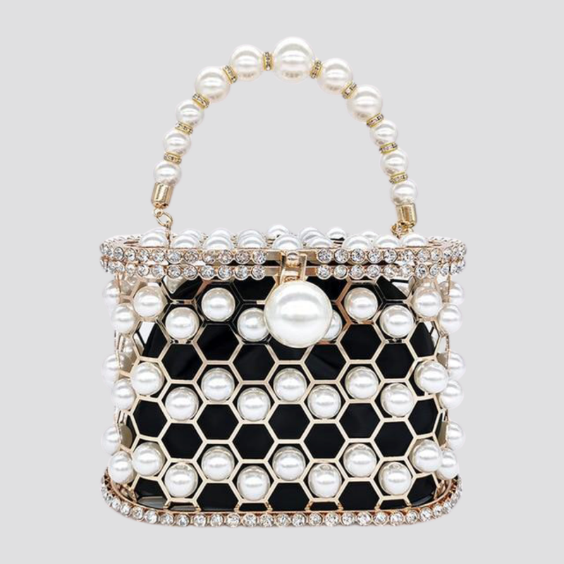 Beaded Pearl Cage Bag Pearl Bag God's Gift London
