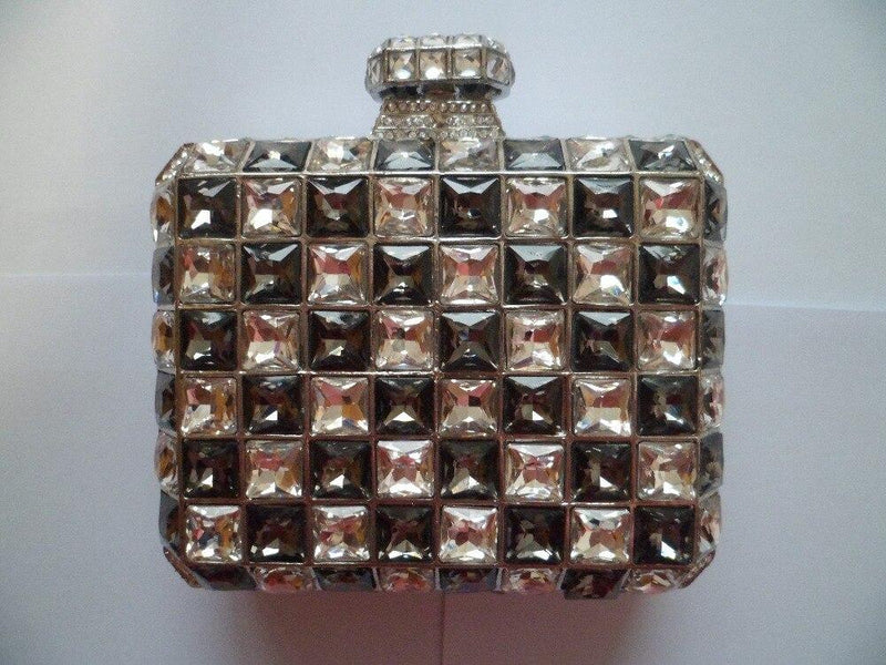 Tiled Rhinestone Clutch Pearl Bag God's Gift London
