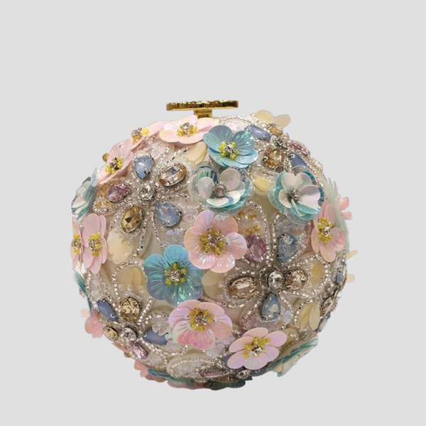Round Faux Pearl Floral Bag Shoulder Bag God's Gift London