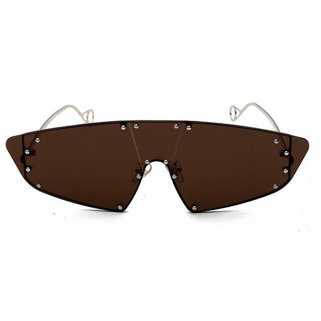 Jamiee Sunglasses Sporty Frames God's Gift London Brown
