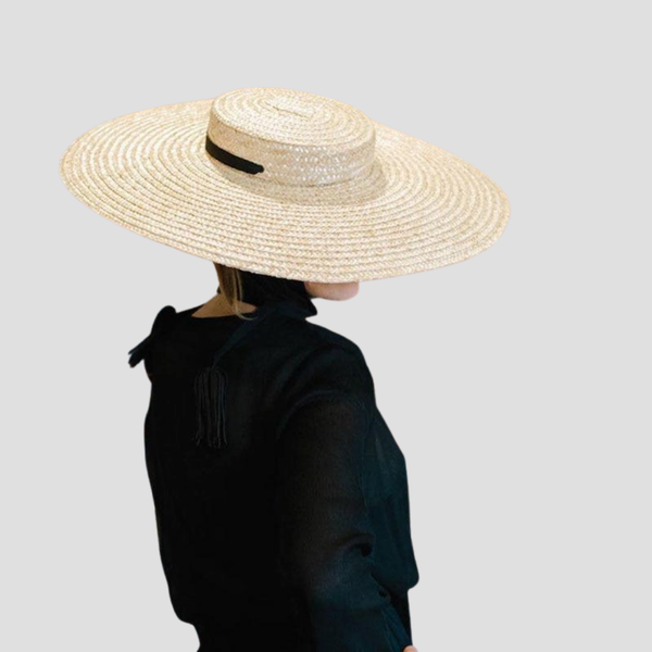 Flat Top Wide Brim Hat straw hat God's Gift London