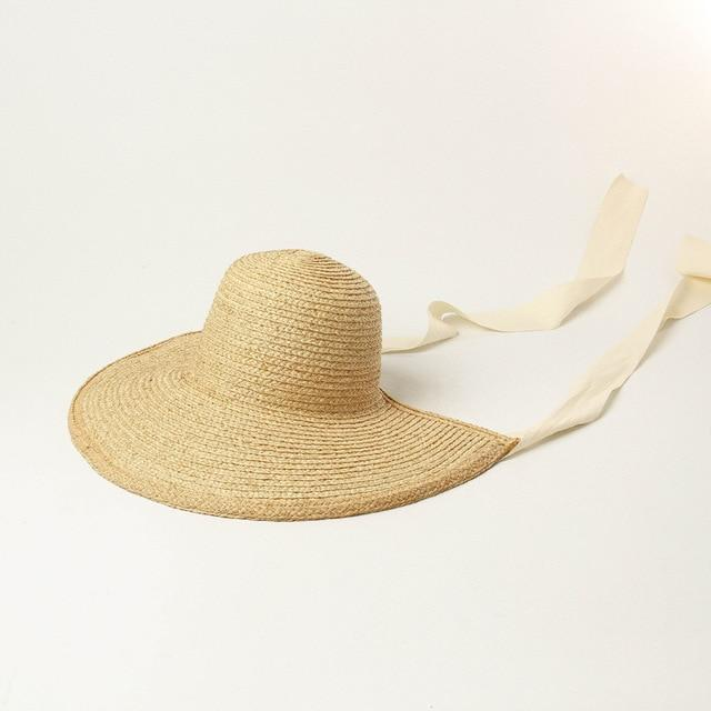 Straw Bonnet straw hat God's Gift London beige ribbon