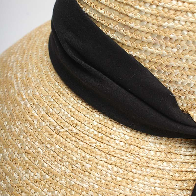 Straw Twist Back Ribbon Hat