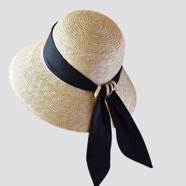 Straw Twist Back Ribbon Hat straw hat God's Gift London