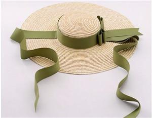 Wide Rim Satin Sash Straw Hat