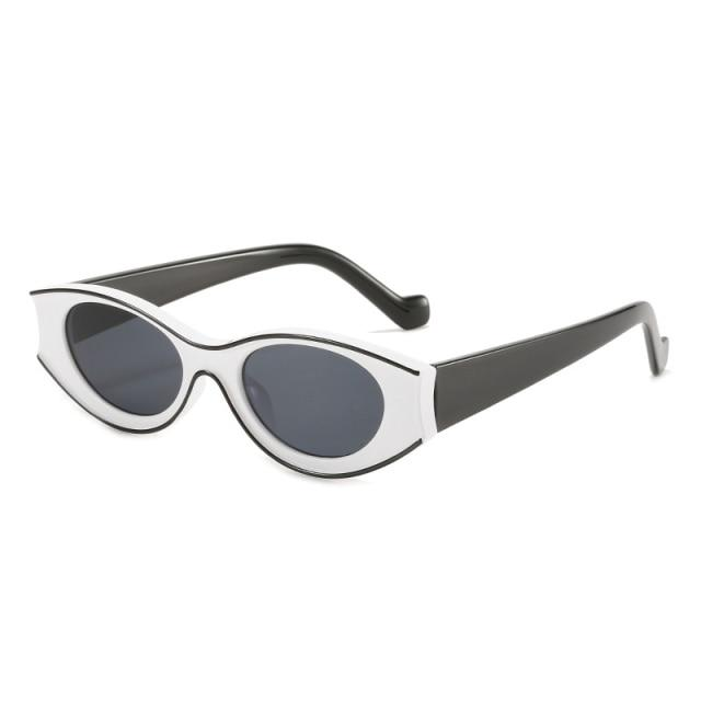 BRIELLE SUNGLASSES Sunglasses God's Gift London White Black